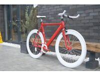 "Brand new NOLOG ""X"" TYPE single speed fixed gear fixie bike/ road bike/ bicycles + 1year warranty 22"