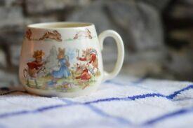 Royal Doulton Bunnikins Peter Rabbit Vintage Children's Kids Mug Tea Party