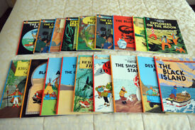Collection of 17 Genuine TINTIN BOOKS - All Brand New and in Mint Condition