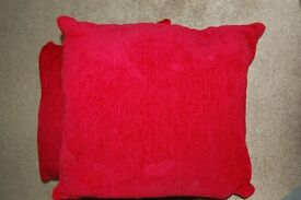 2 X FEATHER FILLED CUSHIONS