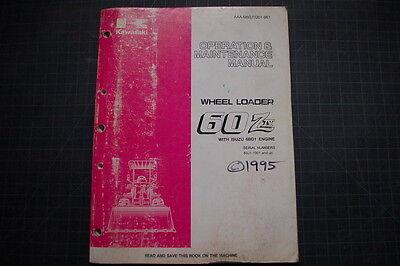 Kawasaki 60z Wheel Loader Operators Operation Manual Book Guide Book Owner 1995