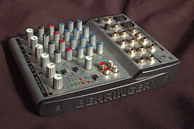 Behringer 4 Track Mixer with power lead.