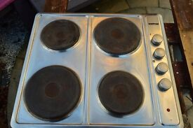 Stainless Steel 4 Ring Electric Hob Top Working Dial Marking Rubbed Off