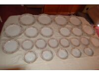 Lovely Noritake 'Clara' in Bone China, Dinner Set of 41 Pcs , All in Lovely Condition.