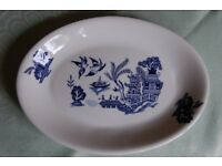 Poole 'Arabian Nights', Scallop dish, 'Lakestone' Saucers & Sauce Boat & 'Cameo' Serving Plate,
