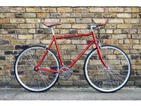 Hackney Club single speed fixed gear fixie road bike/ bicycles + 1year warranty & free service qqy