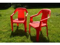 A Pair of Children's Plastic Chairs