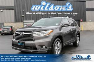 2016 Toyota Highlander LIMITED 7-PASS! AWD! LEATHER! NAV! SUNROO