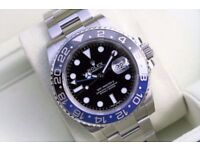 Rolex GMT II Stainless Steel Black Blue SW2836