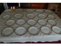 T. Rathbone Part Dinner Set from Late Victorian, or Edwardian Period, 28 pcs in V G Condition.