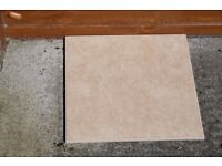 Floor tiles - Montana Beige - 6 boxes x 9 tiles = 6 sq metres