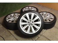 "Genuine VW Polo 16"" Navarre Alloy wheels 5x100 Fabia Ibiza Alloys 9N 6R Volkswagen"