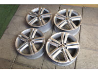 "Genuine Volkswagen Polo R Line 16"" Alloy wheels 5x100 VW 6R Fabia Ibiza Alloys"