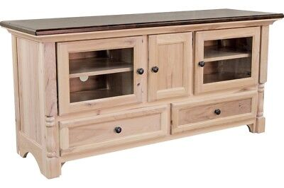 Amish Traditional Solid Wood TV Stand Console Palisade - Traditional Square Tv Stand