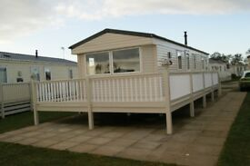 8-BERTH WILLERBY SUNSET CARAVAN / HOLIDAY HOME WITH DECKING FOR SALE-MANOR PARK, HUNSTANTON, NORFOLK