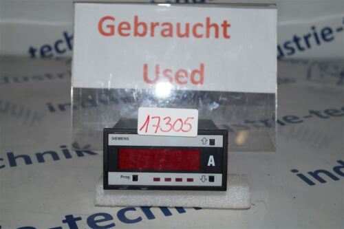 Siemens Digital Display 96x48 7nj3016 Used