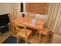 OPPORTUNITY!! Dining set (large table and 4 chairs)