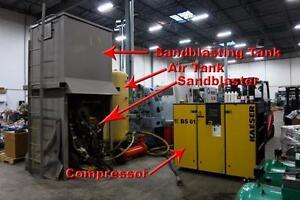 Compressor, Sandblaster, Air Tank, Sandblaster Tank Package