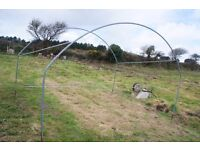 poly polly tunnel polytunnel frame tubes 10m x 11ft x 7ft