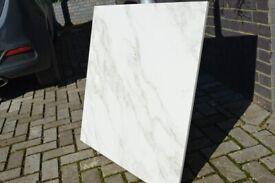 White marbe stone effect porcelain tile 80×80cm 800×800mm £20 psm RRP£60