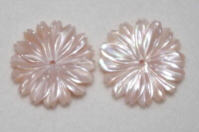 VINTAGE GORGEOUS 15MM ANGEL SKIN MOP JACKETS FOR STUD EARRINGS CREATE A LOOK M