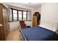 A furnished double room in a family home close to shops and transport is to let, bills included.