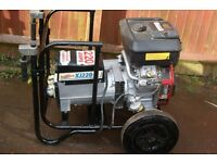 PETROL DC WELDER GENERATOR 230/110 VOLT 5KVA 220 AMP ELECTRIC START
