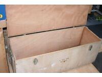 Ex-Army wooden lockable trunk