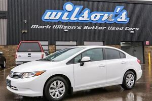 2012 Honda Civic $43/WK, 4.74% ZERO DOWN! BLUETOOTH! KEYLESS ENT