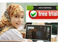 Quran teachers available online via skype. For 3 days free trial just whatsap me on +923125699036