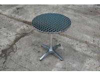 Aluminium Silver Patio Bistro Cafe Table Garden Outdoor Pool Silver