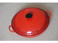 Le Creuset Cast Iron Shallow Casserole Dish 30cm, Cerise Red - Great Condition!