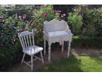 LOVELY SHABBY CHIC DESK WASH STAND DRESSING TABLE & CHAIR offers considered