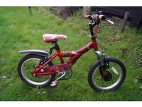 Children bikes (16/12 inch) and tent for bike.