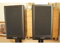 Mission 760i SE bookshelf speakers for HiFi including stand and cables in black