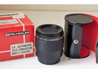Polysales 3X Automatic Tele converter M42 thread fitting