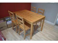 IKEA (JOKKMOKK) table and 4 chairs