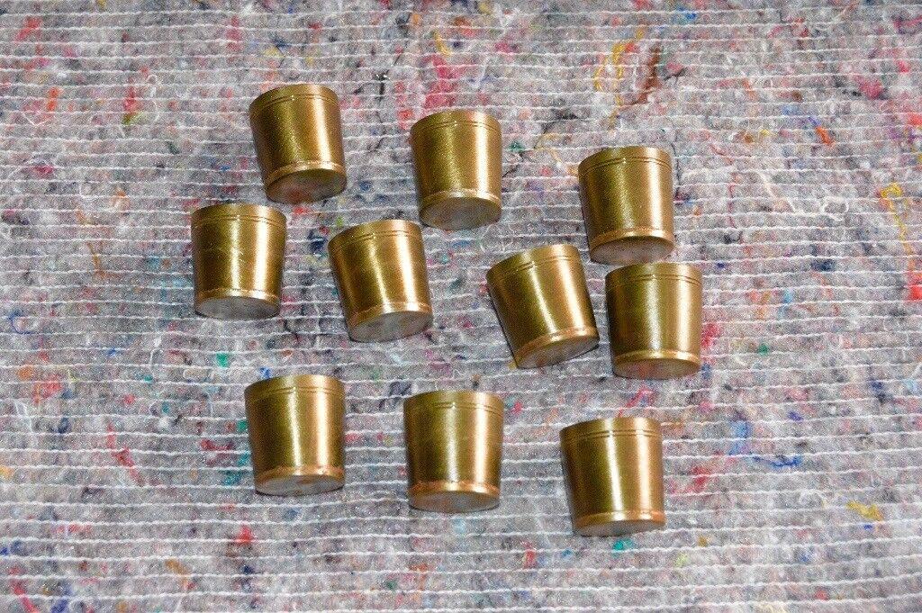 New Old Stock Steel Tipped Brass Walking Stick Ferrules