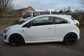 White Vauxhall Limited Edition Corsa 1.2
