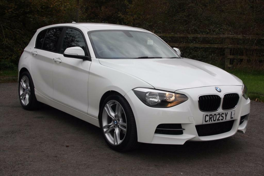 2012 62 white bmw 1 series m sport upgrade bumper alloys in leicester leicestershire. Black Bedroom Furniture Sets. Home Design Ideas