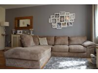 Corner L Shape Couch \ Sofa bought from Cargo - Used - Collection Only