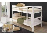 🔵💖🔴ATTRACTIVE PRICE🔵💖🔴SINGLE WOODEN BUNK BED w OPTIONAL MATTRESSES & COLOR'S