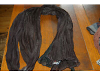 Morgan long black scarf