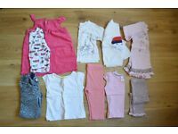 12-18 months Girl's bundle TWO 5 tops, 2 leggings, 1 pair of jeans, 1 dress (with top) £19