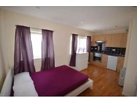 large and spacious studio flat is located next to Abbey Road DLR Station and West Ham Station.