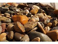 RockinNature 50-100mm Big Irish Beach Pebbles 20kg Bag - decorative garden stones