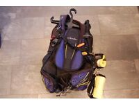 Oceanic Buoyancy Control Device BCD for scuba diving. Used once