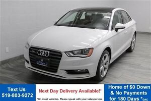 2016 Audi A3 QUATTRO 2.0T KOMFORT! LEATHER! SUNROOF! ALLOYS! HE