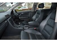 AUDI A4 B6 ESTATE 2004 BLACK LEATHER INTERIOR FRONT & REAR SEATS IN EXCELLENT CONDITION