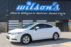 2013 Honda Civic $46WK, 4.74% ZERO DOWN! LX COUPE! NEW TIRES! HE